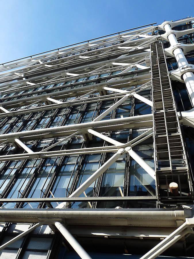 Renzo piano richard rogers paris centre pompidou - Centre george pompidou architecture ...