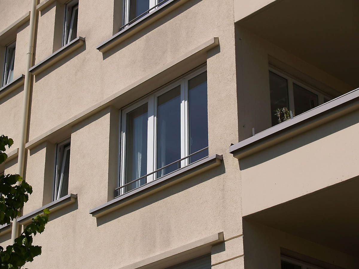 Apartments in munich germany for Stucco facade