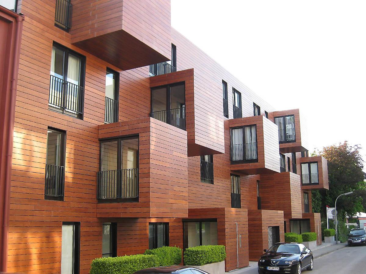 Apartments Bogenallee Blauraum Architecten , 2005. Hamburg, Germany