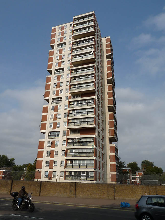 apartment tower in London, United Kingdom